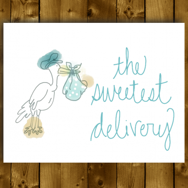 sweetest delivery greeting card