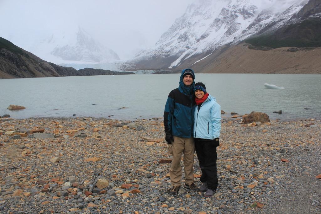Laguna Torre Hike, El Chalten, Argentina - Foggy and Snowy
