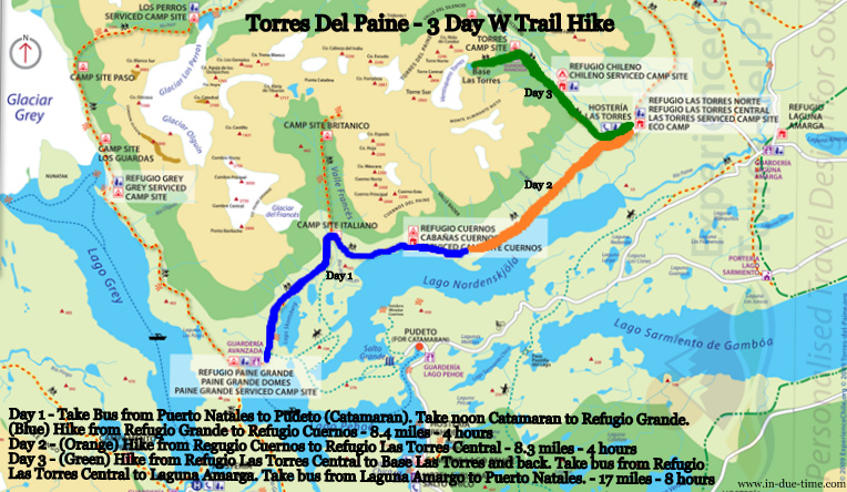 Torres Del Paine - 3 day W Trail Hike