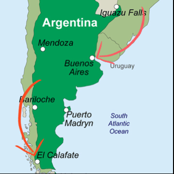 el calafate argentina map South America Argentina In Due Time el calafate argentina map