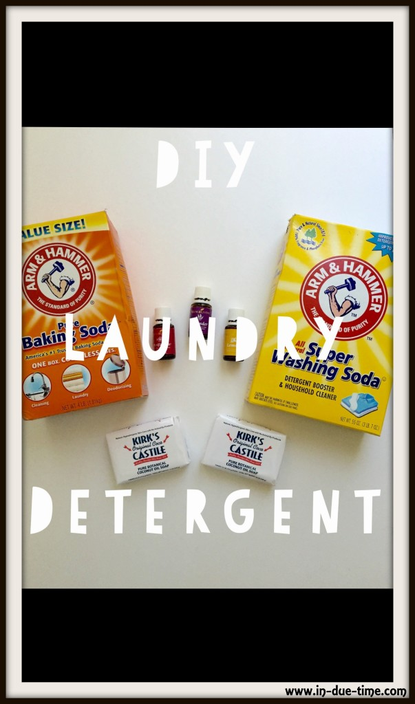 DIY Laundry Detergent - In Due Time Blog