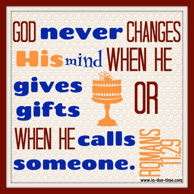 Memory Monday Verse - Romans 11 - In Due Time Blog