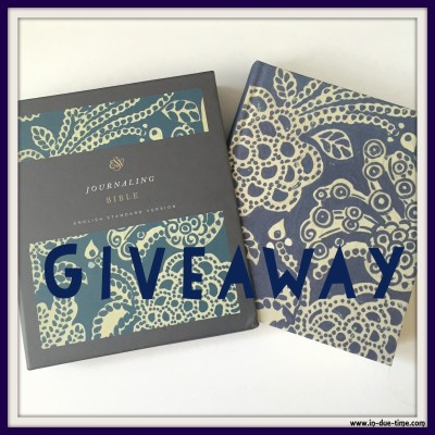 Bible Journal ESV Giveaway