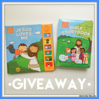 Little Words - Bible Storybook and Jesus Loves Me Giveaway