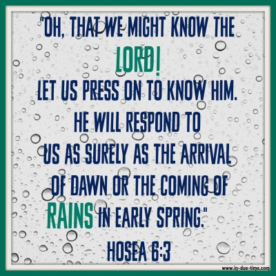 Hosea 6 - Rains in Early Spring - In Due Time Blog