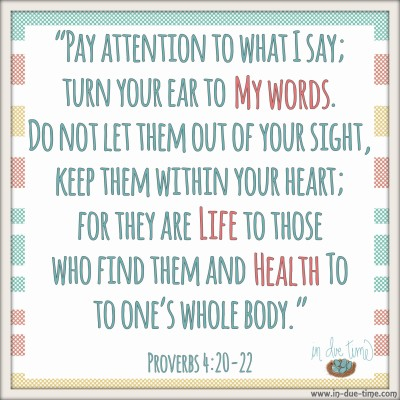 Proverbs 4 - In Due TIme Blog