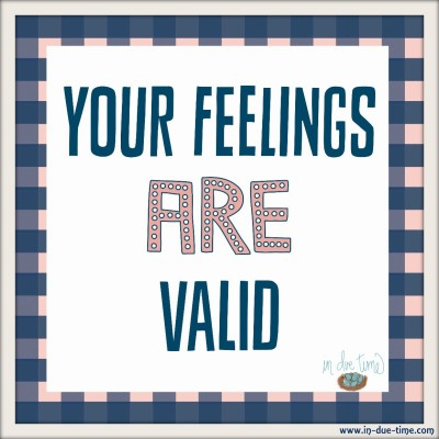 Your Feelings Are Valid - In Due Time Blog