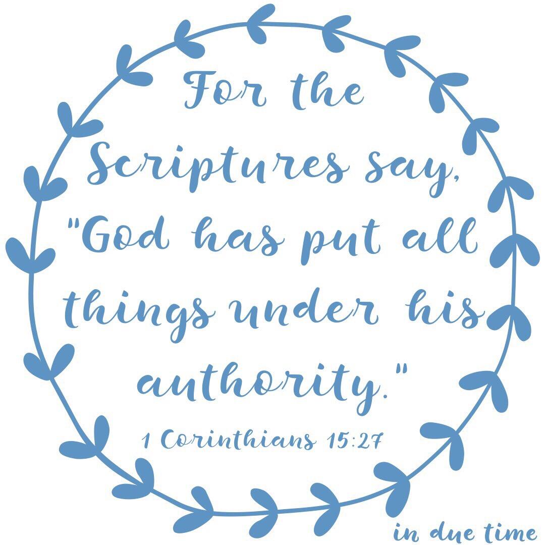 1 Corinthians 15:27