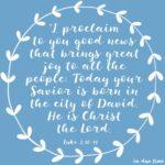 Christ is Born Luke 2:10-11 #167
