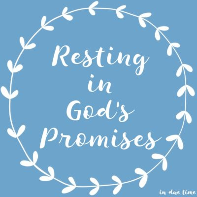 Resting in God's Promises - In Due Time Blog