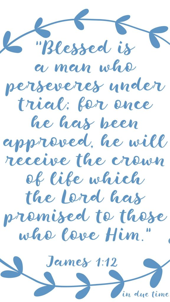 Blessed are those who endure when they are tested James 1