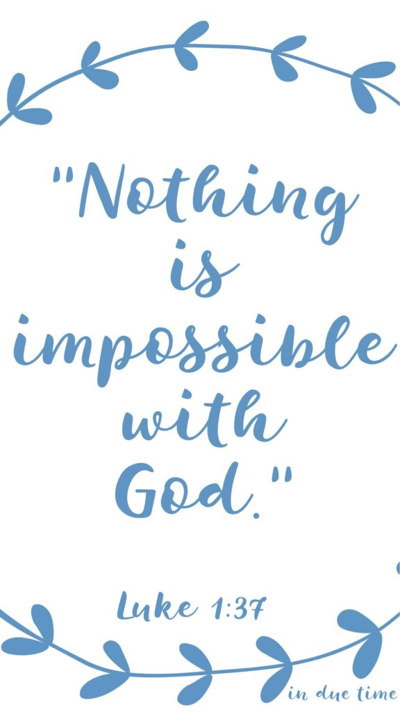 nothing is impossible with God luke 1